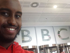 Ex-student turned volunteer wraps things up at the BBC