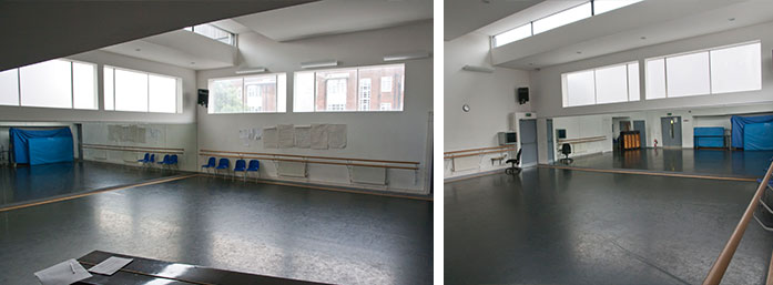 Wac arts halls and rooms for Porte arts and dance studio