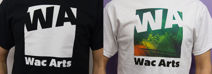 Wac Arts t-shirts