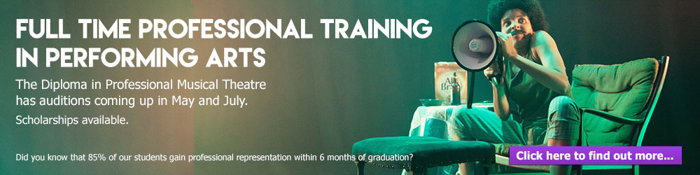 Full time professional training in performing arts