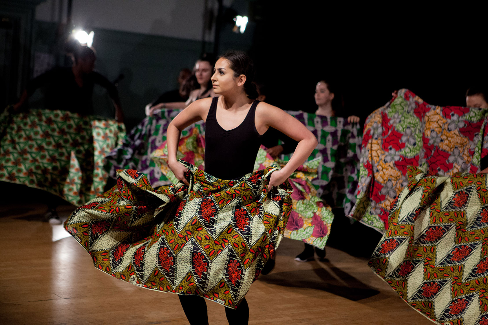 African Dance. Caption - Our Diploma students were joined by members of Urban Motivation to perform a dance inspired by 'The Head Wrap Diaries'.