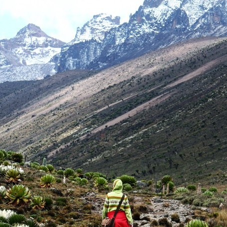 Sam Edge climbs Mount Kenya