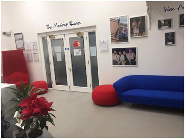 Our new bright and comfortable reception area