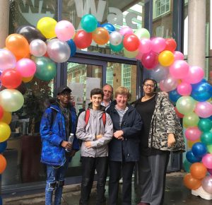 Wac Arts Open Day balloon arch
