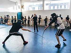 Fencing at Senior Wac Arts