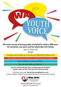 Join Wac Arts Youth Voice