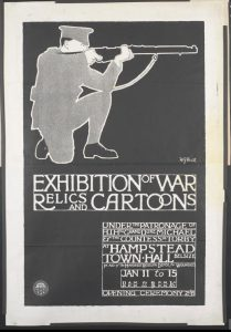 exhibition of war relics and cartoons poster
