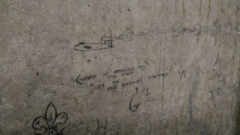 1941 bunker graffiti at the town hall