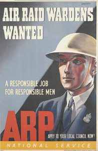 Air raid wardens wanted poster