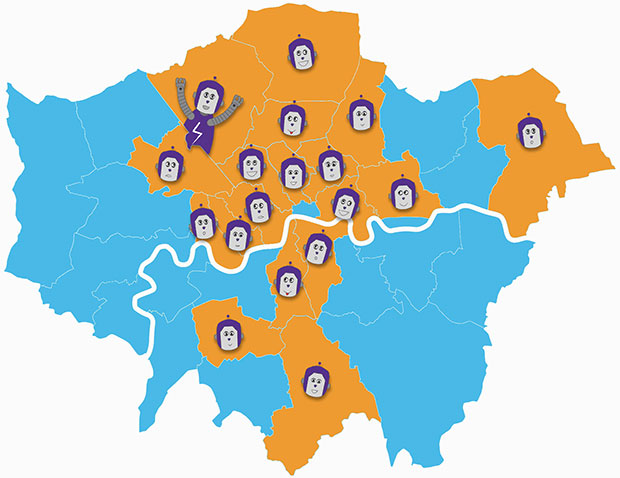 London Outreach Map