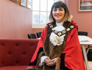Mayor Cllr Maryam Eslamdoust is the first Iranian-born woman ever elected to public office in the UK