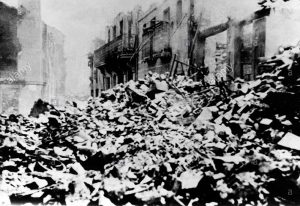 Photograph of Guernica after the bombing