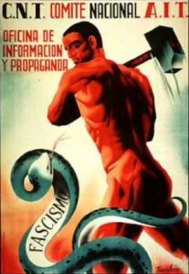 Spanish Civil War Poster Celebrating the Need to Fight Facism